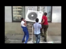 Экстремальный монтаж кондиционеров, демонтаж пластикового окна