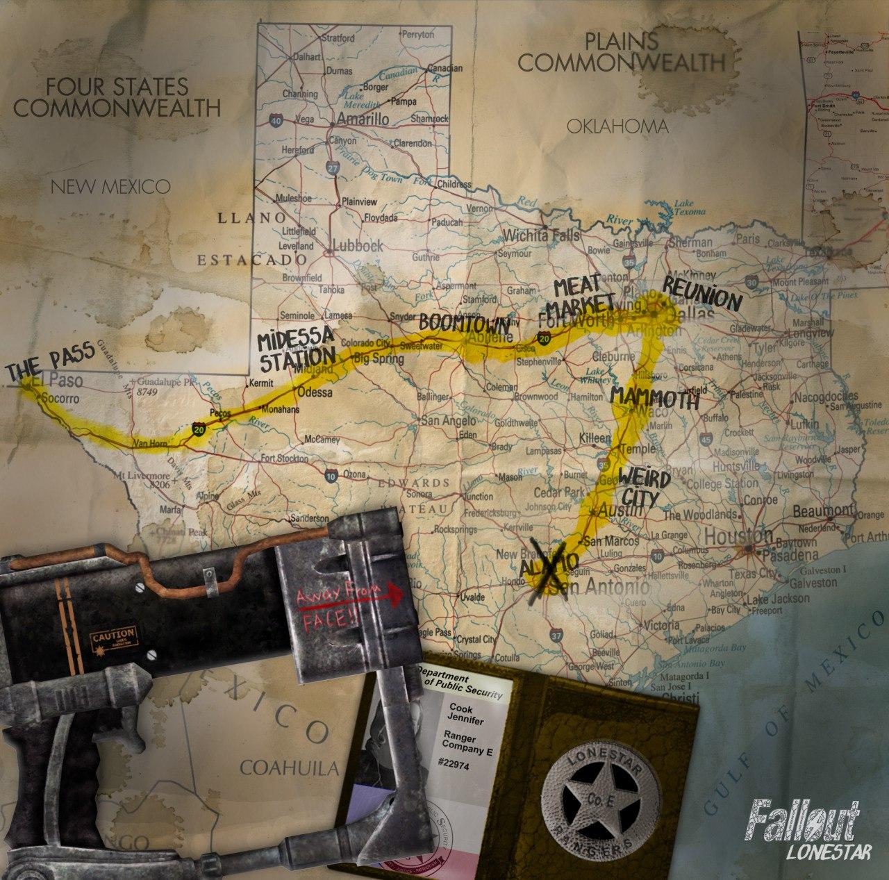 Пару новых артов FalloutLonestar