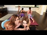 Kinsley Eden, Jasmine Summers (Hot Sneaky Yoga) group sex porno