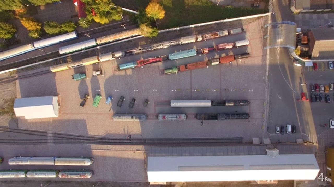 Харьковчанам показали Музей железнодорожной техники с высоты (ВИДЕО)