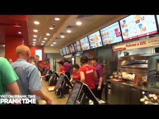 Живые цыплята в КФС пранк - Real chickens in KFC prank