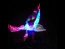 Световое шоу, танец бабочки.