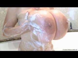 Milena Velba bathtub ( milf milk wet pussy big tits oil busty suck cock blowjob brazzers kink porn горячая мамка модель сосет )