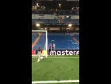 Bayern Munich fans cheered on Toni Kroos son as he played on the Bernabeu pitch
