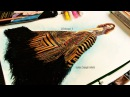 How to Paint Fashion Illustration Gold/Sparkling Gown: Pattern effect