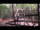 Raising our timber frame workshop