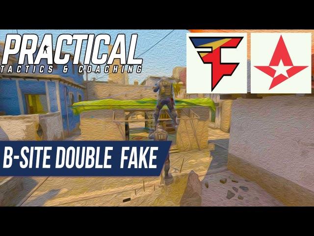 CS:GO Tactic -- Faze vs Astralis -- Mirage Double B-site Fake Contact A-site Push