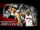 Robert Horry vs Chauncey Billups EPiC Duel 2005 Finals GM 5 Billups With 34 CLUTCH Horry With 21