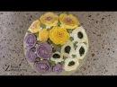 Украшение торта - венок с кремовыми цветами! Cake with buttercream flowers!