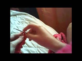 Вязание двойной резинки Видеоурок Вязание спицами
