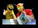 Железный человек, Трансформер Бамблби делают обзор игрушек Обучающий детский компьютер  развивающий
