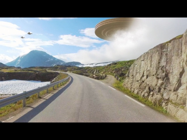 New Huge Disc-shaped UFO filmed in NORWAY January 2017