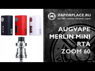 Zoom 60 Merlin mini rta \ by Augvape \ Full review by Vaporplace