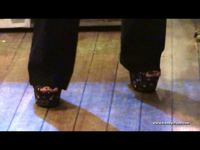 Dance Public High Heels Wedges 047v T15 Black Enamel 001