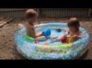 Дети купаются в бассейне / Children swimming in the pool