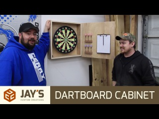 Jay Bates | Making a Dartboard Cabinet with Nick Ferry