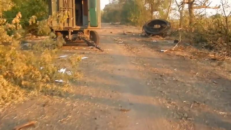 Бесславная смерть и разгром колонны укро-карателей в районе пгт Многополье (Иловайский котел)