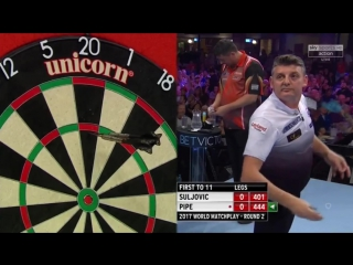 Mensur Suljoviс vs Justin Pipe (PDC World Matchplay 2017 / Round 2)