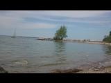 Обское море.  Кораблик)
