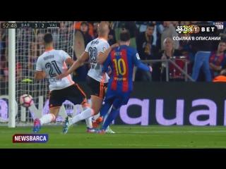 Барселона 3-2 Валенсия  Месси