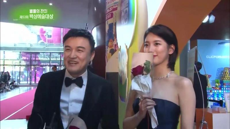 [рус.саб] 08.05.17 KBS «Entertainment Weekly» @ Красная дорожка Baeksang Art Awards