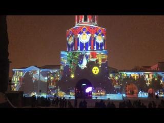 Световое маппинг шоу на Спасской башне в Казани 2017