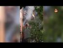 Пожар в пятиэтажке в Москве