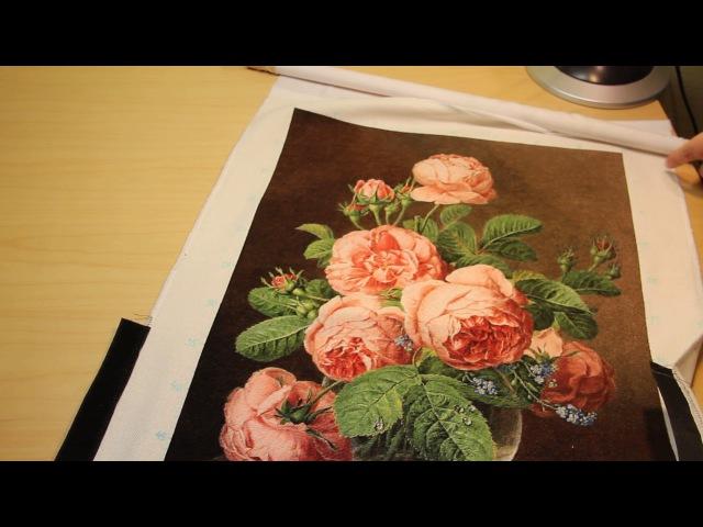 Вышивка ЭстЭ 247 Розы в стеклянной вазе разворот и изнанка
