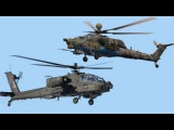 "Ми-28Н Ночной охотник против АН-64 Апач  Mi-28N ""Night Hunter"" against the AH-64 ""Apache"""