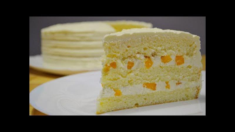 Торт ЛИМОННЫЙ Лимонный Бисквит Заварной Лимонный Крем