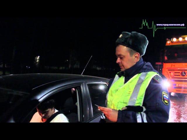 Три человека и отстранены от управления автомобилем сотрудникам ГИБДД Кингисеппского района