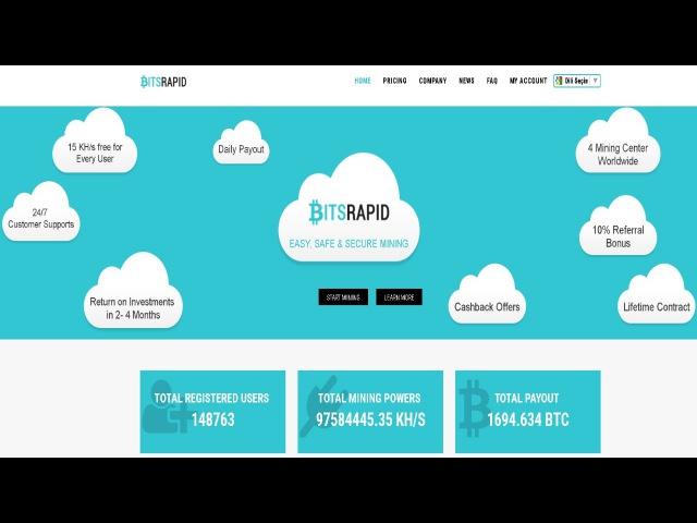 Bitsrapid.com Overview Tutorial ! Free 15 Khs Power ! Cloud Mining ! Free Bitcoin !