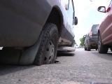 В Йошкар-Оле под «маршруткой» провалился асфальт