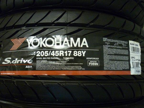 шины YOKOHAMA S.Drive AS01 205/45 R17