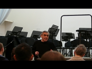 Сводная репетиция с Борисом Абальяном, С.Рахманинов