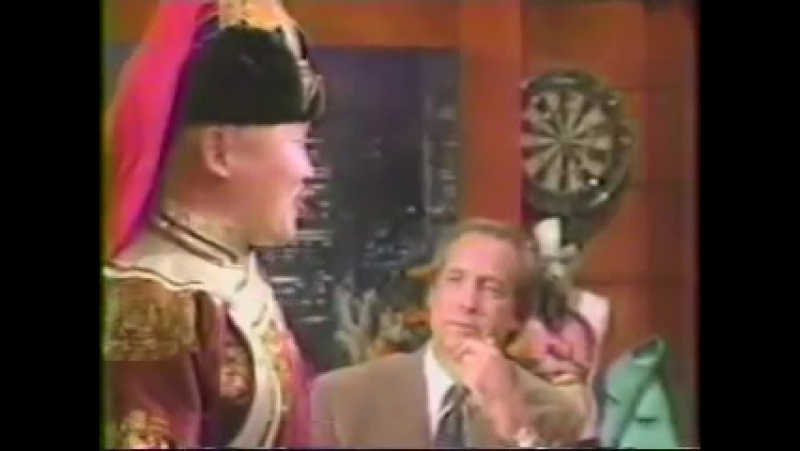 Kongar ol Ondar and his student a very young Bady Dorzhu Ondar appear on the Chevy Chase show October 1 1993