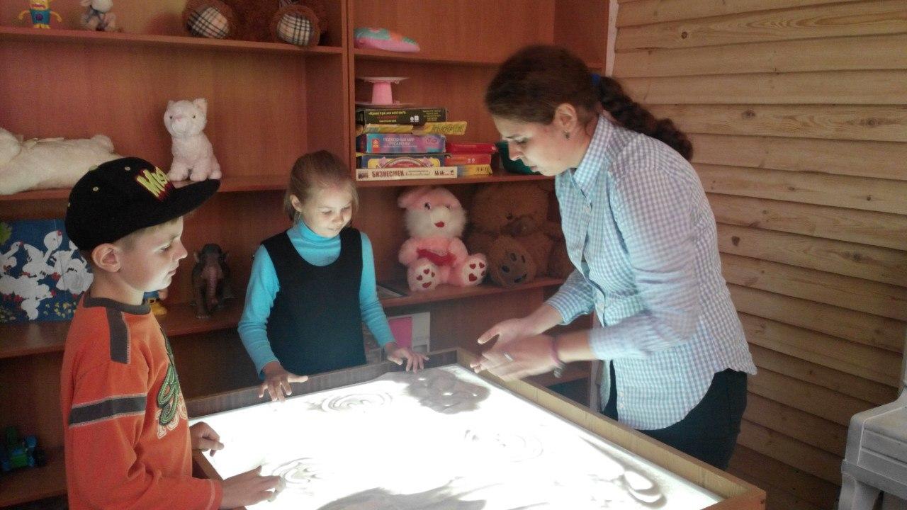песочная анимация Запорожье занятия для детей в семейном центре Апельсин