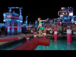 Женщина впервые прошла трассу в финале -Воин Ниндзя- (6 sec)