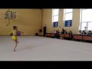 соревнование по художественной гимнастике в средней Ахтубе открытое первенство маленькая заняла 2 место