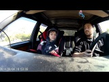 volvo 745 16v turbo drifting onboard with kid first time)