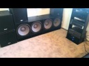 4 18 subwoofers in a bedroom on 5 600w RMS