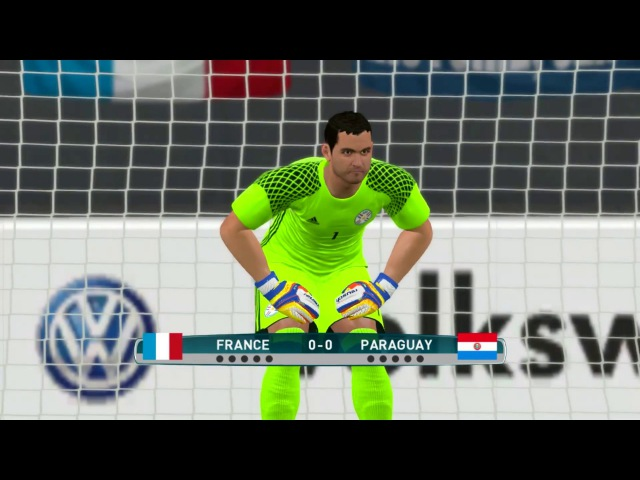 France vs Paraguay 2017 | Penalty Shoot-out | PES 2017 Gameplay