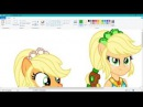 MLP Speedpaint Transformation Legend Of Everfree Mane 7 Ponified [Part2]