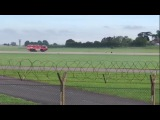 Sea Vixen belly-landing at Yeovilton