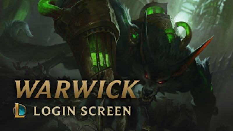 Warwick the Uncaged Wrath of Zaun Login Screen League of Legends