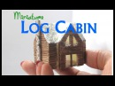 DIY Dollhouse Miniature Loft Log Cabin 1:144 Scale using Paper and Toothpicks
