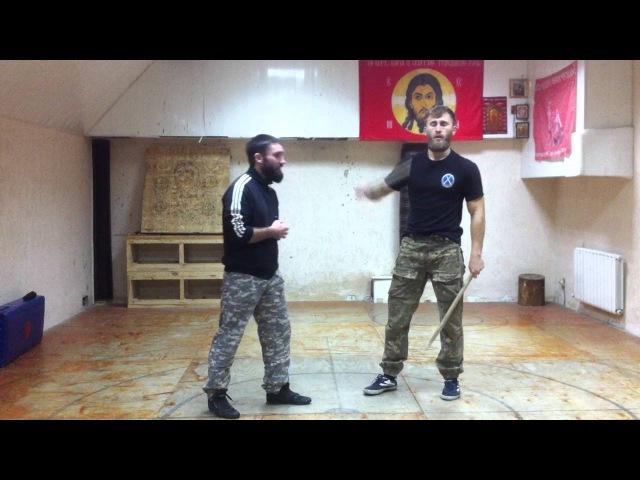 Казачий РБ. Упражнения с палками. Подготовительные упражнения для работы двумя шашками.