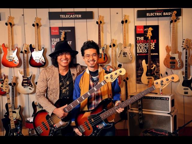 """日野""""JINO""""賢二×ハマ・オカモト(OKAMOTO'S)がFender American Elite Bassを弾きまくり!(ベース125"""