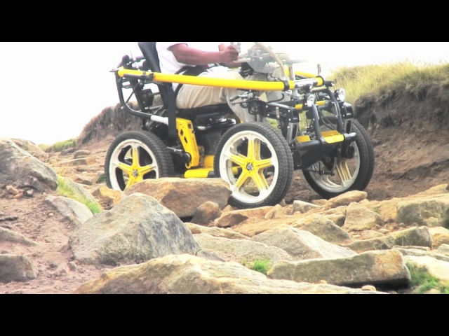 Terrain Hopper: Off Road Wheel Chair Tackles Stanage Edge Huge Rocks with Ease [Overlander 4]