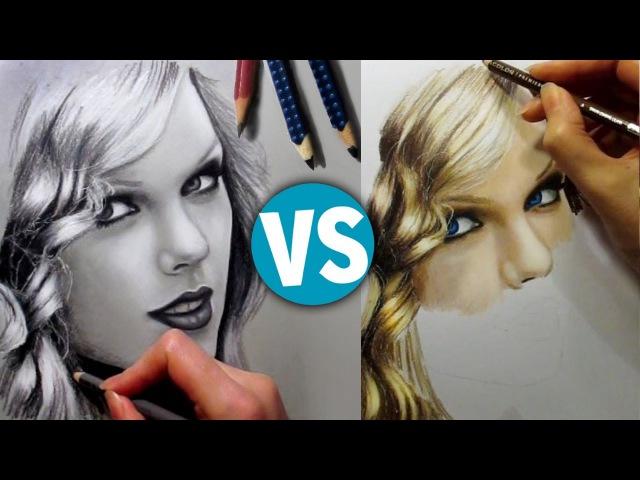Drawing Taylor Swift Graphite Colored Pencils - Speed Draw   Jasmina Susak